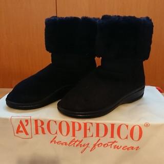 アルコペディコ(ARCOPEDICO)のアルコペディコ ショートブーツ ブラック 35(ブーツ)
