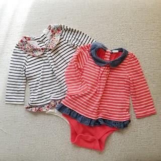 babyGAP ロンパース 長袖 2枚セット