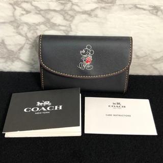 コーチ(COACH)の【未使用】限定品 COACH 6連 キーケース ディズニーコラボ ミッキー 黒 (キーケース)