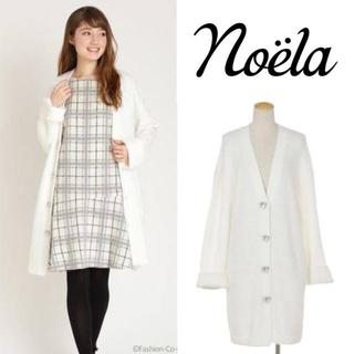 Noela - 【美品訳あり】Noela フェレットライクニットガウンホワイト