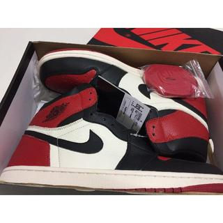NIKE - 特価 30cm JORDAN 1 RETRO HIGH OG BRED TOE