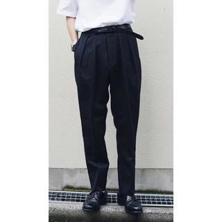 【入手困難】NEAT テーパードパンツ ウールギャバ 黒 サイズ46