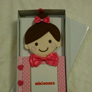 ミキハウス(mikihouse)のミキハウス リーナちゃん身長計 ピンク (写真額縁 )