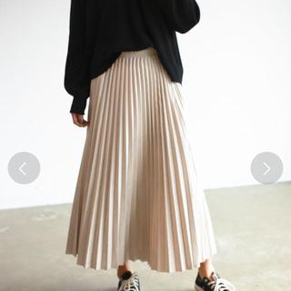 ホリデイ(holiday)のAuntie Rosa Holiday スウェードプリーツスカート(ロングスカート)