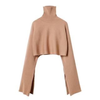 ルシェルブルー(LE CIEL BLEU)のルシェルブルー♡Rib Cropped Knit Tops(ニット/セーター)