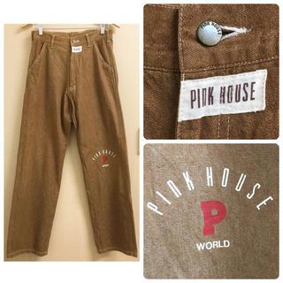 PINK HOUSE - ピンクハウス ブラウン 茶色 デニム ワッペン ジーパン