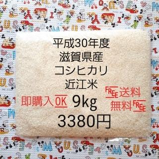 平成30年度 滋賀県産コシヒカリ 近江米9㎏