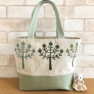 mina perhonen - ミナペルホネン 巾着付きトートバッグ リネン