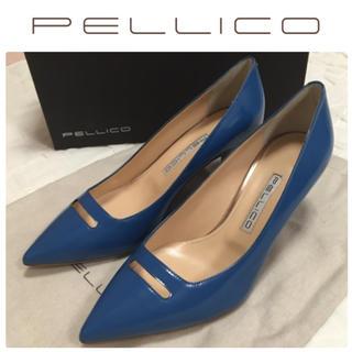 ペリーコ(PELLICO)のPELLICO ペリーコ  アネッリ パンプス コバルトブルー 新品 24.5(ハイヒール/パンプス)