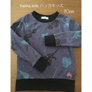 hakka kids - hakka kids ハッカキッズ トレーナー ダイナソー柄 110cm