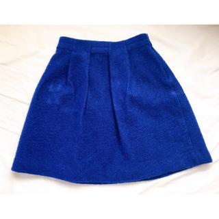 ルカ(LUCA)のLUCA★ウールスカート★ブルー(ミニスカート)
