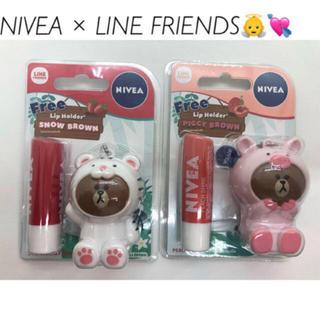 ニベア - ラインフレンズ  NIVEA リップクリーム