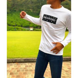 ロンハーマン(Ron Herman)のDrawing スター ボックスロゴ Tシャツ ロンT Sサイズ ロンハーマン(Tシャツ/カットソー(七分/長袖))