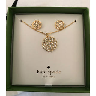 kate spade new york - 新品★ケイトスペード化粧箱入りネックレス・ピアスセット
