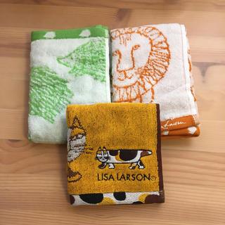 リサラーソン(Lisa Larson)の未使用☆リサラーソン ハンドタオル ウォッシュタオル 3枚セット(タオル)