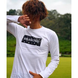 ロンハーマン(Ron Herman)のDrawing スター ボックスロゴ Tシャツ ロンT Lサイズ ロンハーマン(Tシャツ/カットソー(七分/長袖))