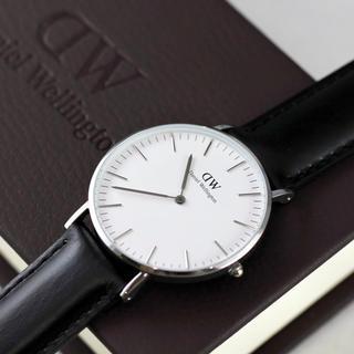 Daniel Wellington - 新品 ダニエルウェリントン 40mm シルバー 腕時計 メンズ レディース 時計