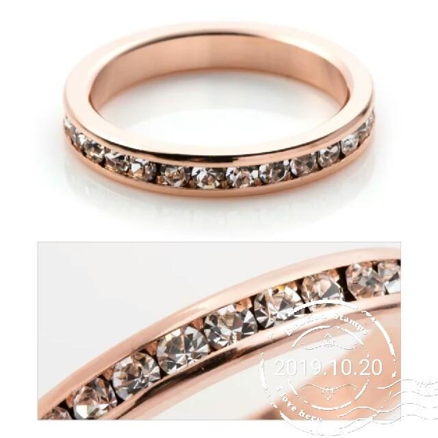 ピンクゴールド オシャレ 人気 レディースのアクセサリー(リング(指輪))の商品写真