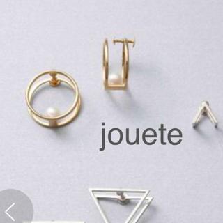 ete - Jouete/ジュエッテ ラップイヤリング 淡水パール ネジ式