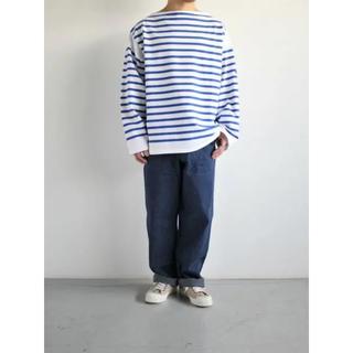 COMOLI - ウティ ボーダー バスクシャツ サイズ2
