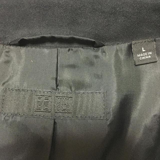 UNIQLO(ユニクロ)のスエードジャケット 黒 L レディースのジャケット/アウター(ライダースジャケット)の商品写真