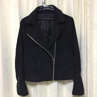 スエードジャケット 黒 L