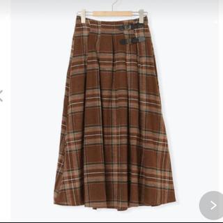 SM2 - ベルト付きチェック柄スカート