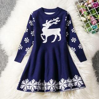 冬 クリスマス衣装 子供ドレス(ワンピース)