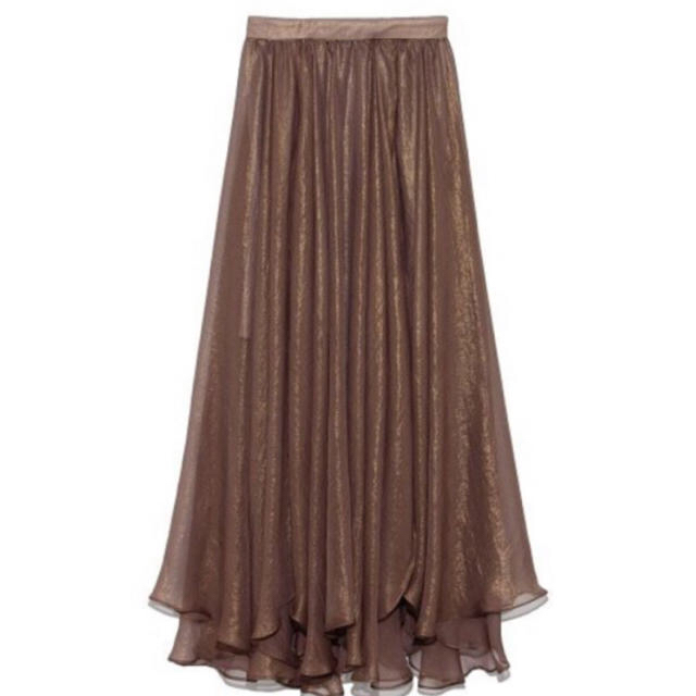 Lily Brown(リリーブラウン)の10/27削除 リリーブラウン 光沢 スカート レディースのスカート(ロングスカート)の商品写真
