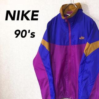ナイキ(NIKE)のNIKE ナイキ ナイロンジャケット 銀タグ 90's レディース マルチカラー(ナイロンジャケット)