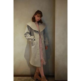 リリーブラウン(Lily Brown)のlissi boutique ビッグカラーウールコート(ロングコート)
