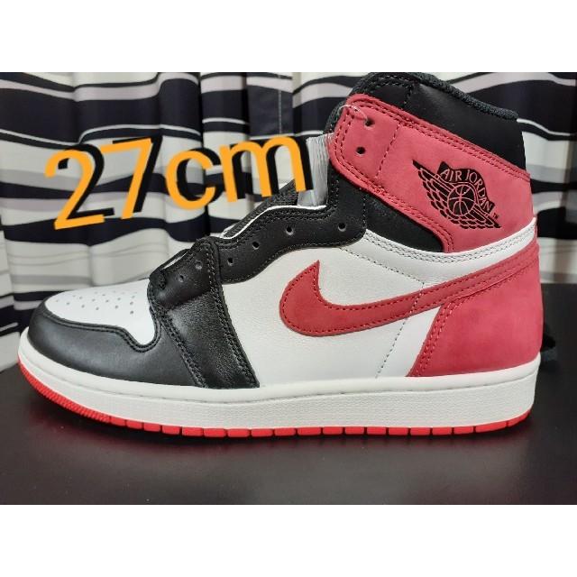 NIKE(ナイキ)の鑑定済み NIKE AIRJORDAN1 track red black toe メンズの靴/シューズ(スニーカー)の商品写真
