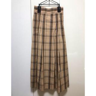 サイ(Scye)のScye チェックフレアスカート(ロングスカート)