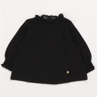 petit main - 新品 petit main 衿袖フリルカットソー