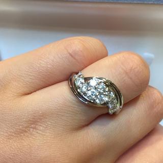 百貨店購入  プラチナ 1カラット ダイヤモンド リング