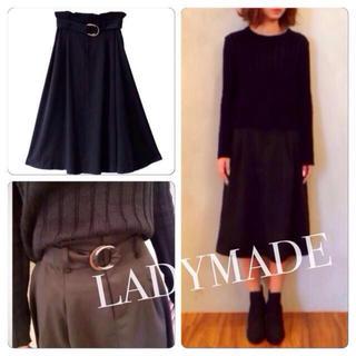 レディメイド(LADY MADE)のLADYMADE/ベルト付タックスカート(ロングスカート)
