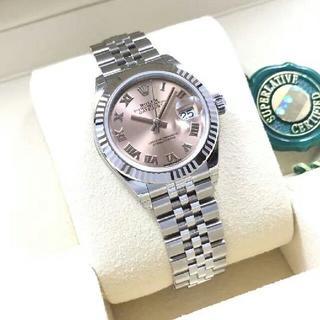 ROLEX - ロレックスの日誌型の粉の28 mmローマの字の機械の女子時計