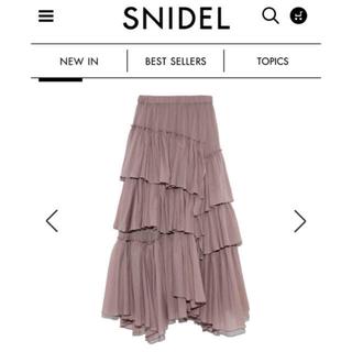 snidel - 正規品 新品 シアーティアードスカート