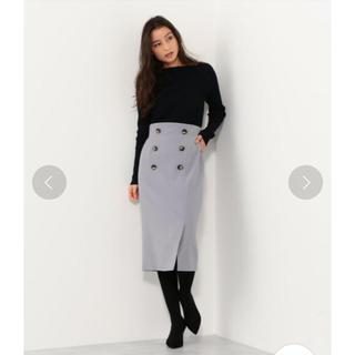 UNITED ARROWS - ジュエルチェンジズ WボタンIラインスカート
