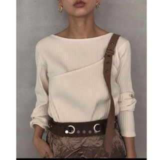 Ameri VINTAGE - 新作完売品!BELTED LAYERED RIB TOP アメリヴィンテージ