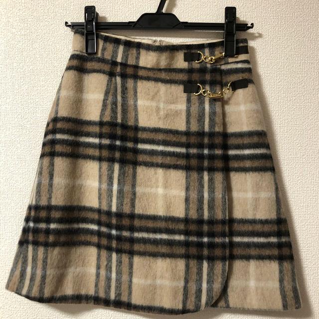 Rirandture(リランドチュール)の正規品 リランドチュール シャギーチェックミニスカート  レディースのスカート(ミニスカート)の商品写真