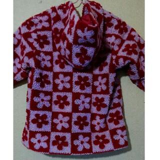 ムージョンジョン(mou jon jon)のムージョンジョン お花模様 ボア コート 90cm(コート)