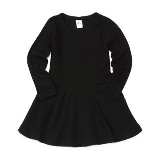韓国子供服 ブラックベーシックワンピース(ワンピース)