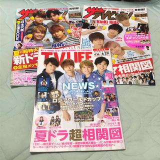 ニュース(NEWS)のNEWS テレビ誌表紙(アート/エンタメ/ホビー)