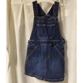 ムジルシリョウヒン(MUJI (無印良品))の無印良品 ジャンバースカート kids 110センチ(ワンピース)