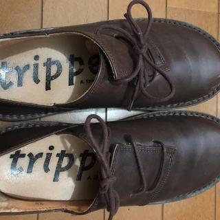 トリッペン(trippen)のトリッペン ハーフェル Haferl ブラウン サイズ39(ローファー/革靴)