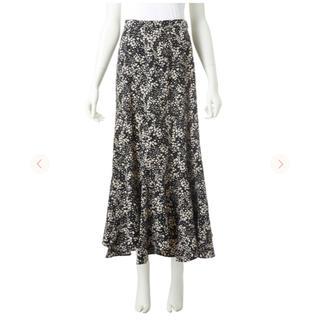 ココディール(COCO DEAL)のCOCO DEAL エスカルゴフラワープリントスカート(ロングスカート)