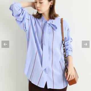 IENA - IENA ストライプボウタイシャツ