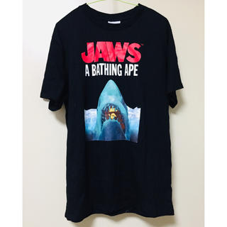 A BATHING APE - a bathing ape Jaws コラボ 19ss Tシャツ 【サイズ】L