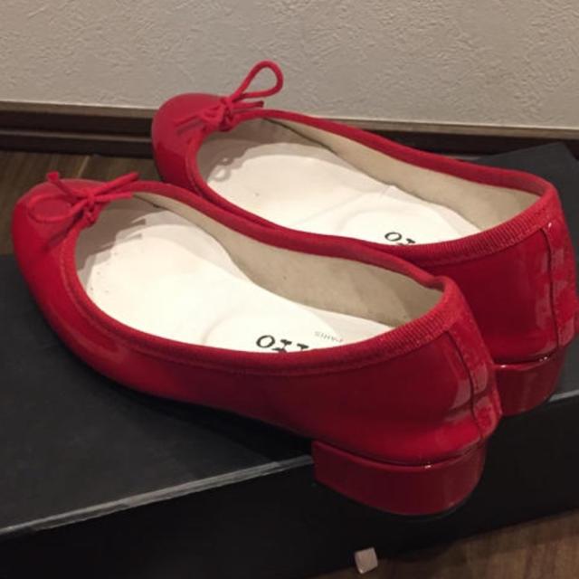 repetto(レペット)のレペット 赤 バレエシューズ 35 レディースの靴/シューズ(バレエシューズ)の商品写真